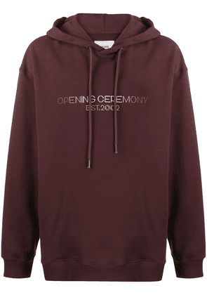 Opening Ceremony embroidered logo hoodie - PURPLE