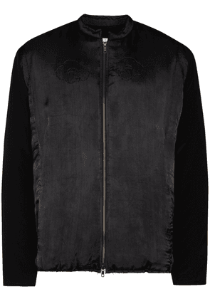 By Walid Dragon pagoda embroidered bomber jacket - Black
