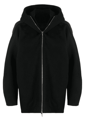 Attachment oversized hooded jacket - Black
