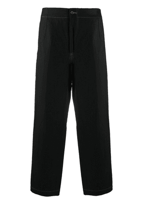 Uma Wang tapered cropped trousers - Black