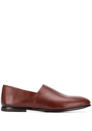 Ajmone polished slip-on loafers - Brown