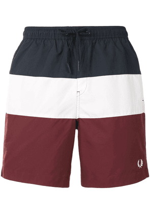 Fred Perry colour-block swim shorts