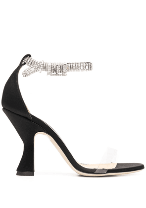 Giannico crystal strap sandals - Black