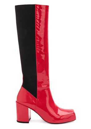Aalto block heeled boots - Red