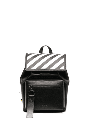Off-White Diag-print Industrial-strap backpack - Black