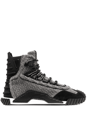 Dolce & Gabbana lace-up sneaker sole boots - Black