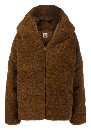 Bacon faux-shearling puffer jacket - Brown