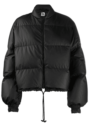 Bacon drawstring hem bomber jacket - Black