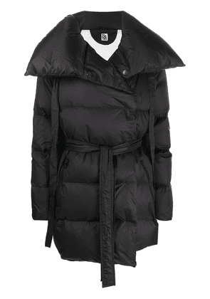 Bacon oversized belted puffer coat - Black