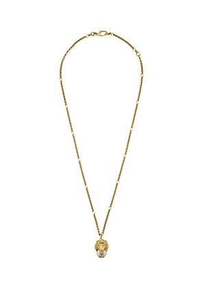 Gucci crystal lion head necklace - GOLD