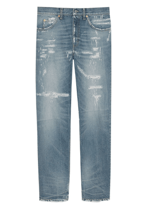 Gucci eco-bleached organic denim jeans - Blue