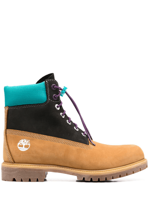 Timberland colour-block 6 inch boots - Yellow
