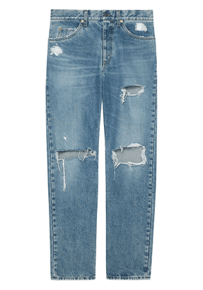 Gucci distressed straight-leg jeans - Blue