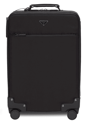 Prada logo four-wheel suitcase - Black