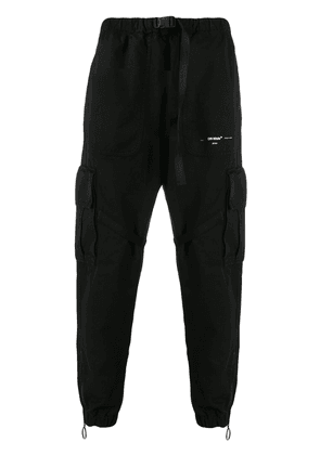 Off-White Parachute buckled cargo trousers - Black