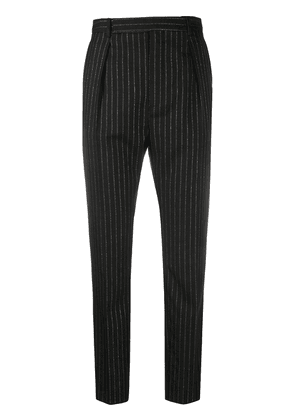 Saint Laurent pinstripe high-waisted trousers - Black