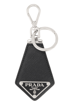 Prada triangle logo keyring - Black