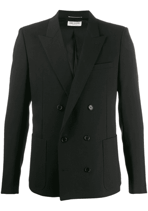 Saint Laurent fitted double-breasted blazer - Black