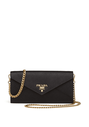 Prada rectangular logo clutch bag - Black
