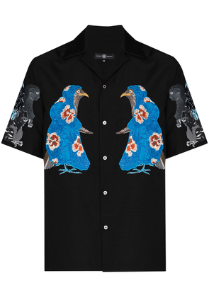 Edward Crutchley x Browns 50 embroidered characters shirt - Black