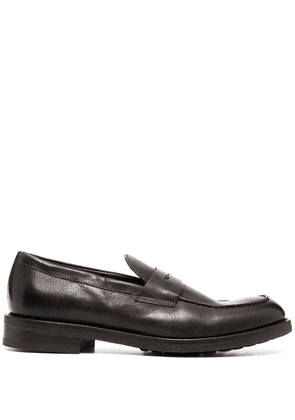 Doucal's leather penny loafers - Brown