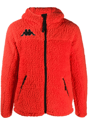 Kappa faux-shearling hooded jacket - ORANGE