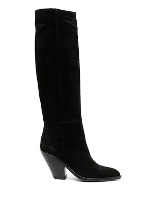 Buttero suede knee high boots - Black