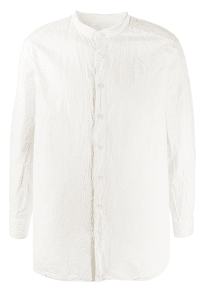 Casey Casey band-collar crinkle blouse - Neutrals