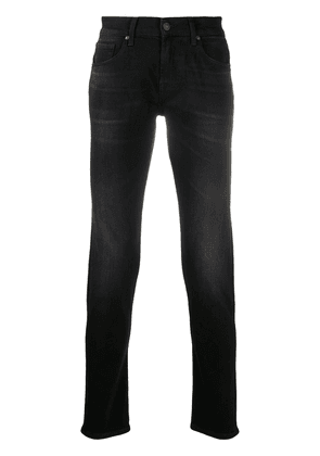 7 For All Mankind high-rise slim fit jeans - Black