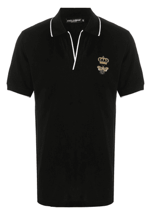 Dolce & Gabbana bee crown polo shirt - Black