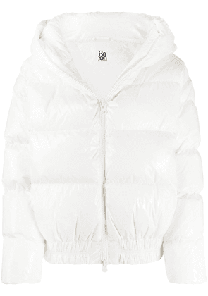 Bacon Cloud hooded down-padded jacket - White