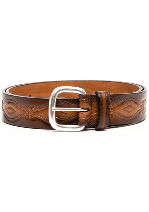 Anderson's embroidered rope pattern belt - Brown
