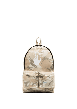 Off-White x Browns 50 camouflage-print backpack - Neutrals