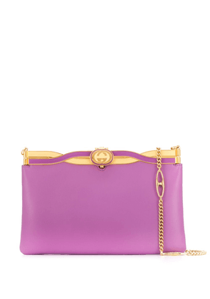 Gucci Broadway evening bag with twisted enamel - PURPLE