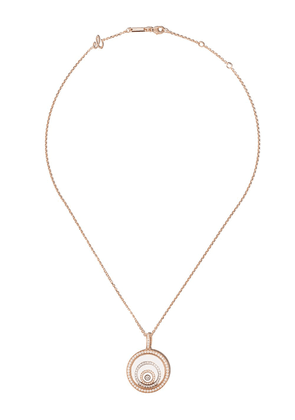 Chopard 18kt rose and white gold diamond Happy Spirit pendant necklace - PINK