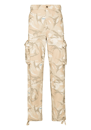Off-White x Browns 50 camouflage cargo trousers - Neutrals