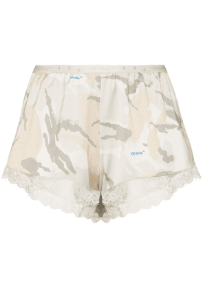 Off-White x Browns 50 camouflage-print shorts - Neutrals