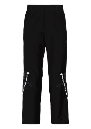 Edward Crutchley x Browns 50 skeleton embroidered trousers - Black