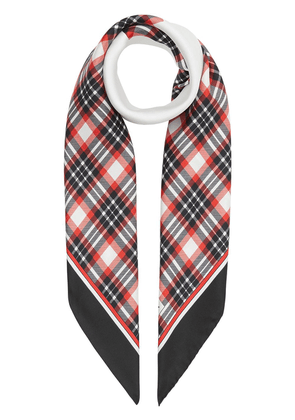 Burberry star motif check scarf - Red