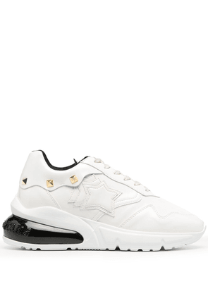 Atlantic Stars studded leather trainers - White