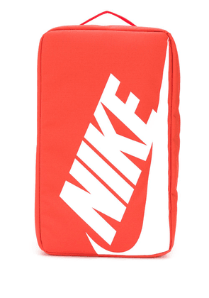 Nike logo print shoe bag - Orange