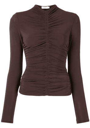 A.L.C. Ansel ruched jersey top - Brown