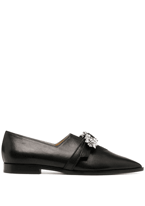Giannico Penelope crystal loafers - Black
