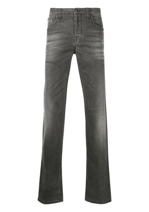Gucci distressed straight-leg jeans - Grey