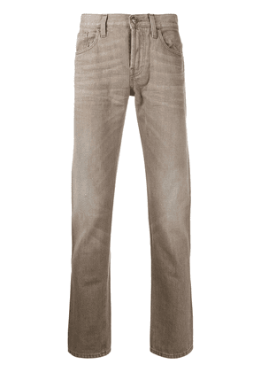 Gucci distressed straight-leg jeans - Neutrals