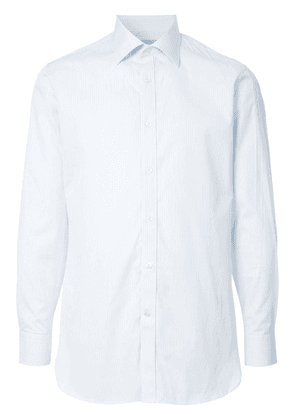 Gieves & Hawkes striped button shirt - Blue
