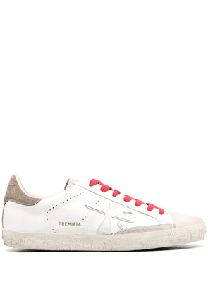 Premiata embossed sole trainers - White