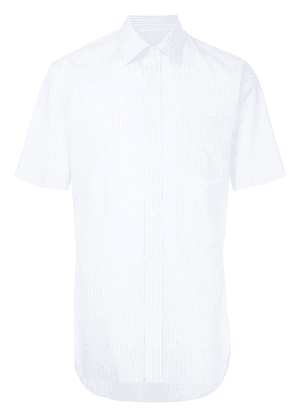 Gieves & Hawkes short-sleeved striped shirt - Blue