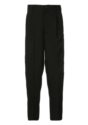 Doublet contrast-panel tailored trousers - Black