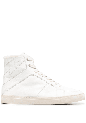 Zadig&Voltaire hi-top leather trainers - White